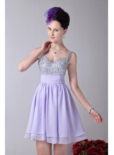 Lavender Stunning Beaded Short Cocktail Dresses