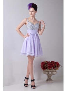 Lavender Stunning Beaded Short Cocktail Dresses:1st-dress.com