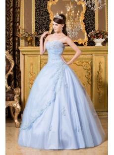 Light Blue Popular Cheap Quinceanera Dress