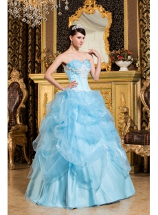 Light Sky Blue Pretty Quinceanera Dress 2013