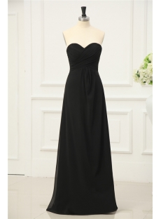 Long Black Chiffon Inexpensive Plus Size Prom Dresses