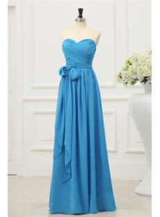 Long Chiffon Simple 2014 Prom Dresses