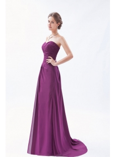 Long Sweetheart A-line Grape Purple Evening Dress Plus Size
