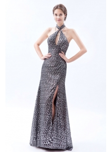 Luxurious Black and Silver 2014 Prom Party Dress