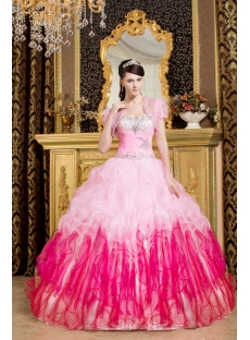 Luxurious Pink Hot Sale 2013 Quinceanera Dress