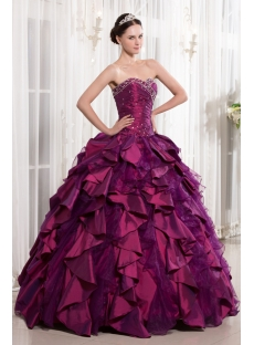 Luxury Sweet Fuchsia 2014 Quinceanera Dress