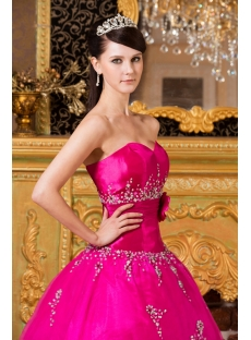 New Arrival 2014 Pretty Hot Pink Quinceanera Dresses