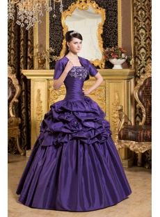 Noble Purple Princess Quinceanera Gown with Short Boleros