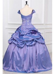 Off Shoulder Periwinkle Princess Quinceanera Ball Gown 1st