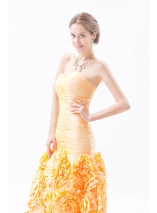 Orange Mermaid Quinceanera Dresses with Sweetheart