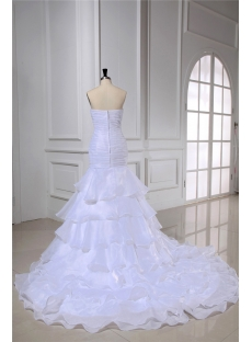 Organza Mermaid Strapless Wedding Dress for Spring