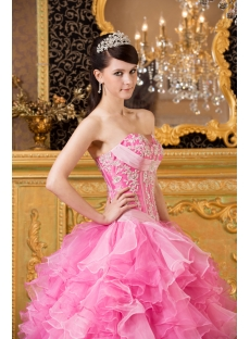 Pink Exclusive Puffy Quinceanera Dresses 2014
