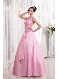 Pink Halter Cheap Quinceanera Dress