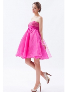 Pink Sweetheart Tutu Baby Doll Cocktail Dress