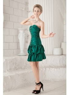 Pretty Dark Green Sweet 16 Dress