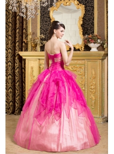 Puffy Hot Pink Sweet 15 Quinceanera Dresses