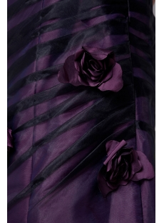 Purple and Black Strapless Graduation Dress for Spring