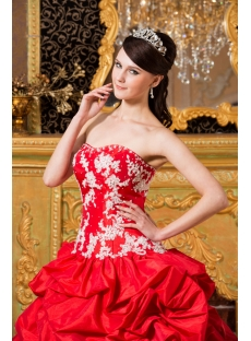 red best lovely quinceanera gown dress with corset1st