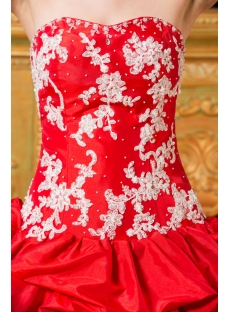 Red Best Lovely Quinceanera Gown Dress with Corset