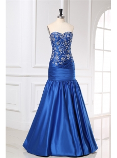 Royal Blue Long Mermaid Trumpet Prom Dresses