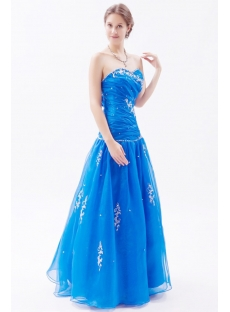 Royal Blue Masquerade Ball Gown With Corset Back 1st Dress Com
