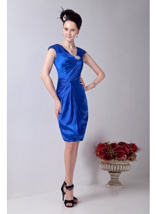 Royal Cheap Knee Length Prom Party Dress for Brides Mother