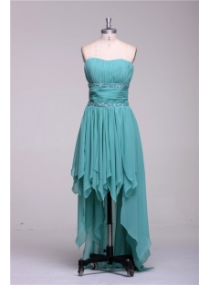 Sage High Low Prom Dresses under 200 Dollars