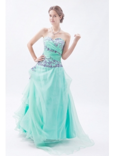 Sage Puffy Sweet Cheap Quinceanera Dresses with Embroidery
