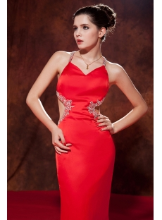 Sexy Backless Red Evening Dresses for Women