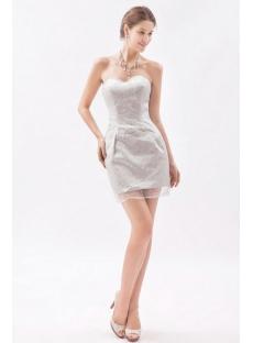 Simple Silver Sweetheart Mini Homecoming Dress