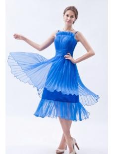Spaghetti Straps Royal Blue Short Bridesmaid Dresses