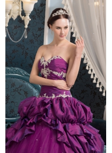 Special Grape Pretty Quinceanera Dress for Fall