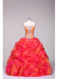 Strapless Long Colorful Best Quinceanera Dresses