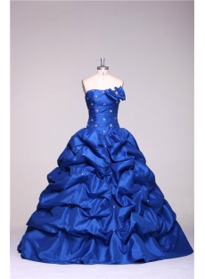 Strapless Long Royal Blue 15  Quinceanera Dresses