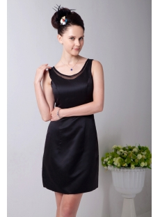 Strapless Modest Little Black Dress for Plus Size