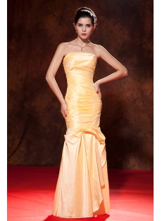 Strapless Sheath Taffeta Long Evening Gown