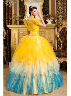 Sunflower Best Quinceanera Gown Dresses with Short Jacket