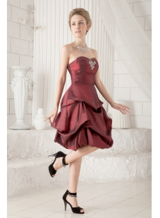 Sweet Burgundy Short Quince Gown