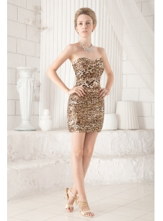 Sweetheart Leopard Mini Cocktail Dress