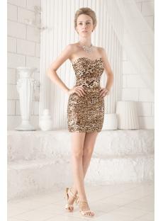 Sweetheart Leopard Mini Cocktail Dress
