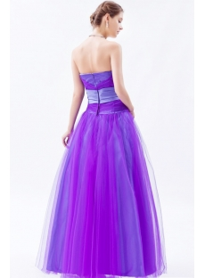 Tulle Purple Sweetheart Long Quinceanera Dresses