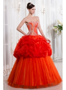 Unique Orange Cute Quinceanera Dress