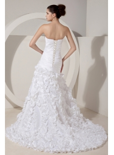 White Sweetheart Fit and Ruffle 2012 Wedding Gown