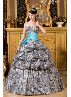 Zebra Quinceanera Ball Gown Dresses 2013 with Sweetheart