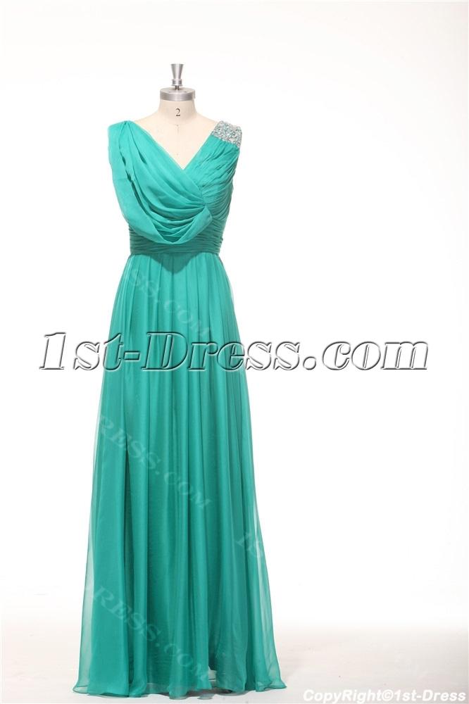 2014 Teal Green Classy Prom Dresses Long 1st Dress Com