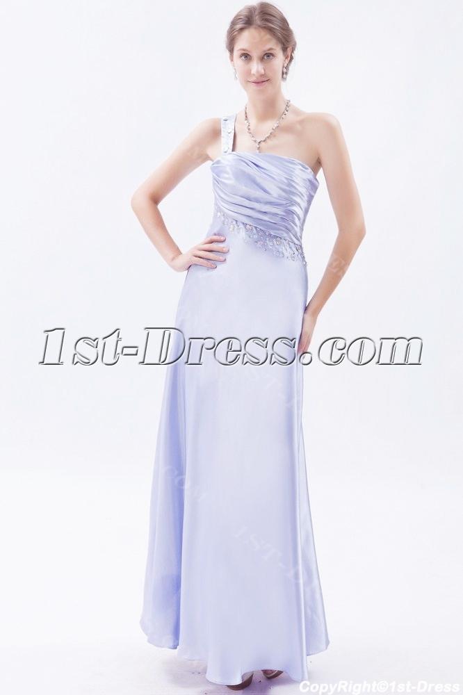 54220f3da85 Ankle Length Lavender One Shoulder Prom Dresses under 200 (Free Shipping)