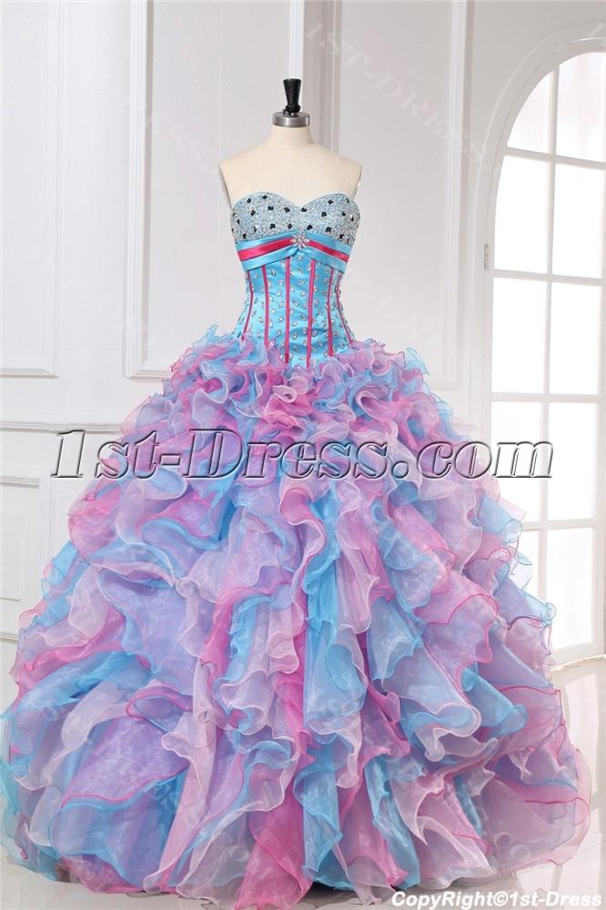 Beaded Bright Colorful Quinceanera Dresses 2013 1st Dress Com
