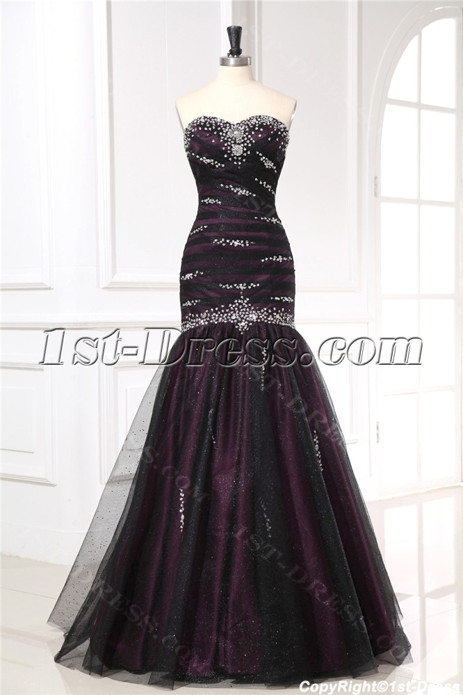 Black Fishtail Military Evening Dresses 1st Dress Com