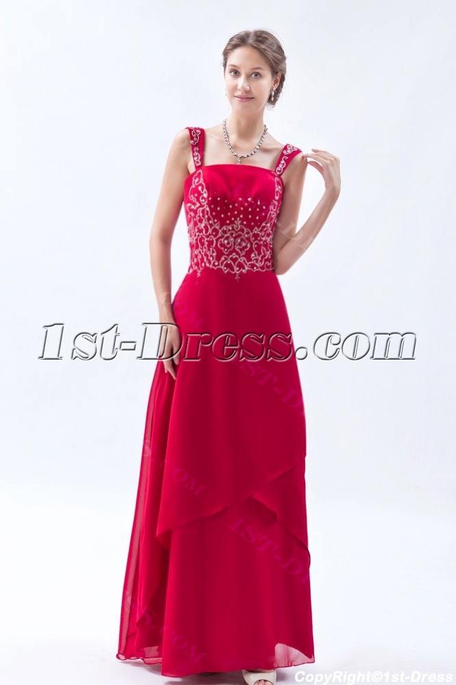 Burgundy Chiffon Long Mother Of The Bride Plus Size Dresses1st
