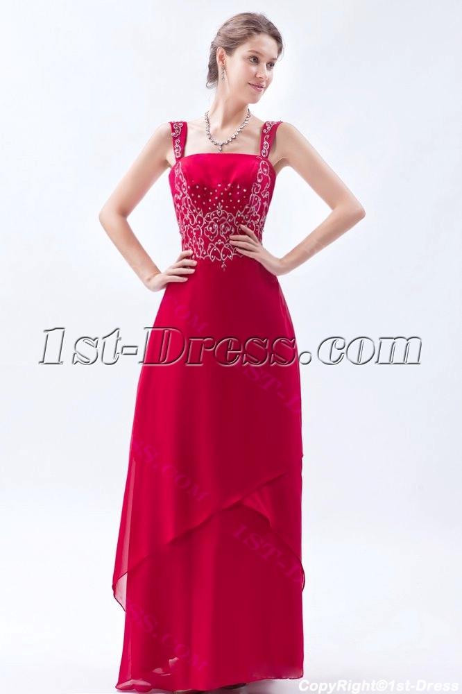 Burgundy Chiffon Long Mother of the Bride Plus Size Dresses:1st ...